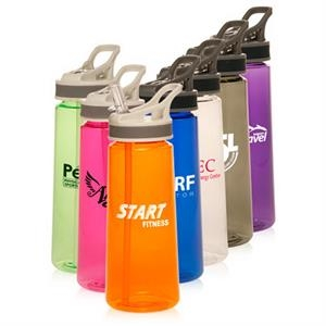 22 oz. Sports Water Bottles With Straw