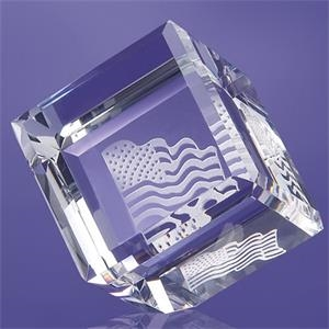 Cube Paperweight 2 3/4""