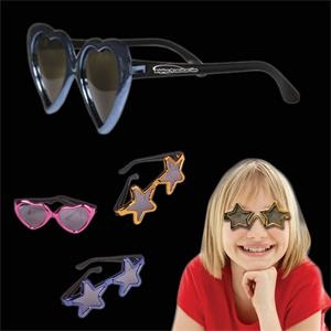 Children's Metallic Sunglasses In Assorted Colors And Shapes