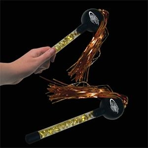 "9"" Gold And Black Tinsel Maraca"