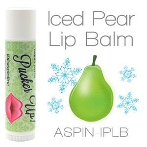 Iced Pear Lip Balm Made With Natural And Organic Ingredients. Contains Spf 15