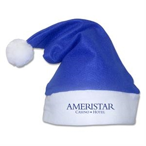 Blue - Traditional Felt Style Old Fashioned Santa Hat