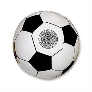 "Inflatable 16"" Soccer Ball For Sport Fans. Measures Inflated Half The Circumference"