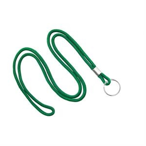 Kelly Green Blank Round Lanyard  with Split Ring
