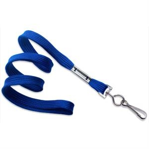 Royal Blue Flat Blank Lanyard with Swivel Hook
