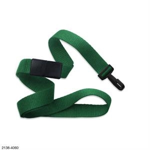 Kelly Green Flat Blank Lanyard Breakaway/Narrow Plastic Hook