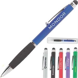 Creative - Green - Stylus And Ballpoint Pen, Black Ink. Comfort Grip And Pocket Clip