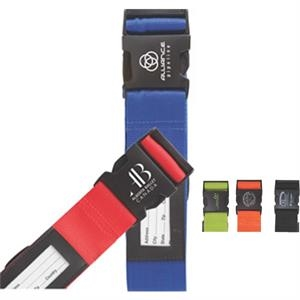 Red - Adjustable Strap Fits All Luggage Sizes, Nylon Strap, Quick-release Buckle