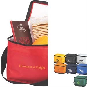 The Daily Cooler - Red - 210d Pu Insulated Fashion Lunch Bag