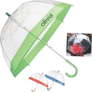 The Bubble - Black - Transparent Eco-friendly Plastic Umbrella,