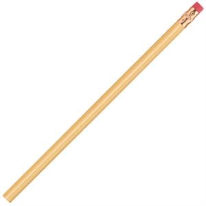 International (tm) - Cream - Bonded Core Pencil In A Wood-cased Barrel With Brass-colored Ferrule And Red Eraser