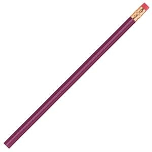 International (tm) - 3 Color Imprint - Plum - Bonded Core Pencil In A Wood-cased Barrel With Brass-colored Ferrule And Red Eraser