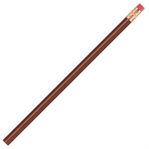 International (tm) - Burgundy - Bonded Core Pencil In A Wood-cased Barrel With Brass-colored Ferrule And Red Eraser