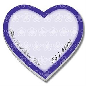 "Heart Shape Adhesive Notes, 4"" X 4"", 25 Sheets"