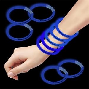 "Blue 8"" Single Color Superior Glow Bracelet"
