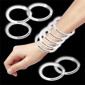 "White 8"" Single Color Superior Glow Bracelet"