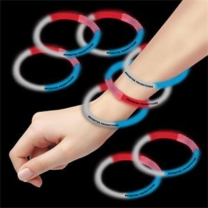 "Red, White & Blue 8"" Triple Color Superior Glow Bracelet"