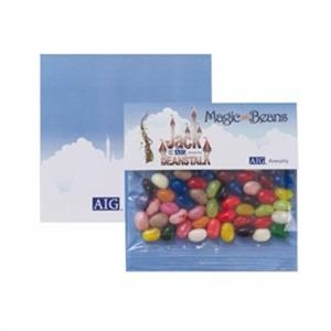 "Gourmet Jelly Beans In A 5"" X 5"" Large Billboard Header Bag"