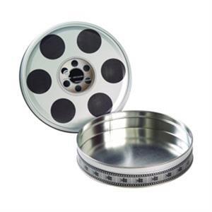 Large Empty Film Reel Tin