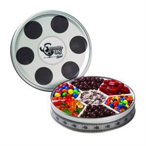 Large Film Reel Tin / 7 Way Candy Tin