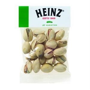 1 Oz Pistachio Nuts In A Header Bag