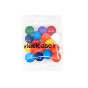 Promo Snax - 1/2 Oz - Chocolate Buttons In Cello Bag