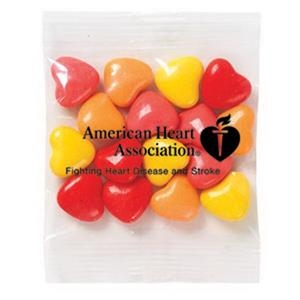 Promo Snax - 1 Oz - Crazy Heart Candy In A Cello Bag