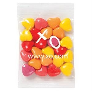 Promo Snax - 1 1/2 Oz - Crazy Heart Candy In A Cello Bag