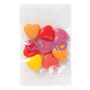 Promo Snax - 1/2 Oz - Crazy Heart Candy In A Cello Bag