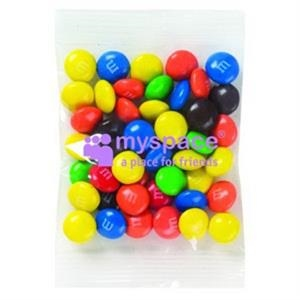 Promo Snax (r) M&m's (r) - 1 1/2 Oz - Candy Coated Plain Chocolate Candies In Cello Bag