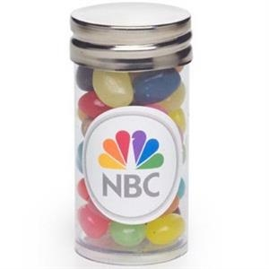 "Gourmet Jelly Beans In A 1.4"" X 2.75"" Tube With Silver Cap"