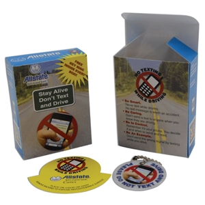 Awareness Kit With Key Tag And Auto Sticker Packaged In Miniature Box