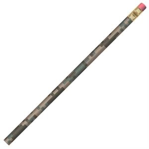 Digital Camouflage(tm) Transfer Wraps (tm) - Digital Acu - Round Barrel #2 Core Pencil With Black Ferrule And Eraser