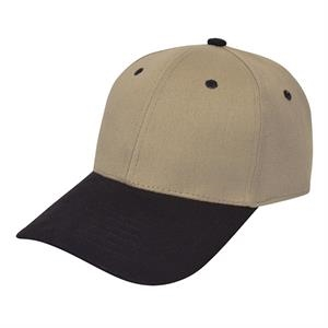 Heavy Brushed Cotton Twill Cap. Closeout