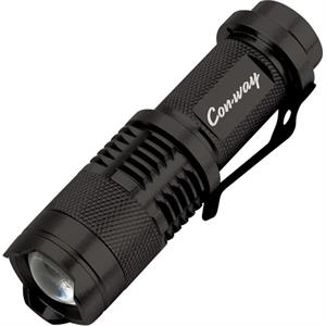 Minitac Tool Zone (tm) - Flashlight With Deep Machined Grooves On The Anodized Aluminum Tactical Body