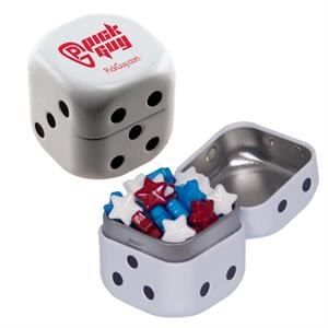 Dice Tin with Candy Stars