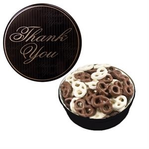 The Grand Tin with Chocolate Covered Mini Pretzels-Thank You