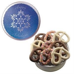 The Grand Pretzel Tin with Chocolate Covered Pretzels