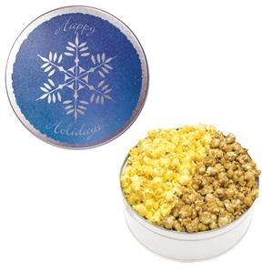 The King Size Popcorn Tin-Snowflake Design