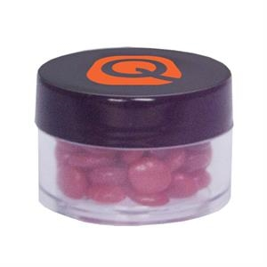 Twist Top Container Filled With Cinnamon Red Hots Candy