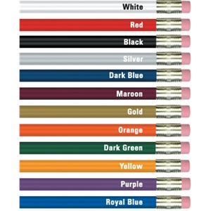 Dark Green - Round Painted Pencils