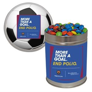 Quart Tin Containers with Compare To M&M(r) Candy