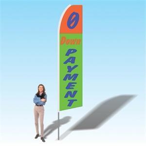 0 Down Payment OrangeGreen Advertising Banner Flag