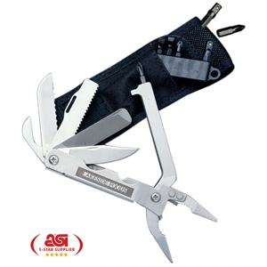Multimaster - 17 Function Tool: Needle Nose Pliers Design - Stainless 17-function Tool With Pliers Design. Offered With Nylon Pouch, Bits, Holder