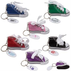 Gym Shoe-shaped Keytag. 6 Color Choices With A White Trim