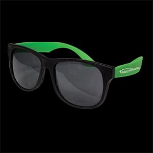 Neon Sunglasses With Green Arms, 12 Per Pack