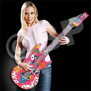"42"" Inflatable Groovy Guitar, Blank"