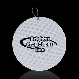 "Golf Ball 2/12"" Plastic Medallion"