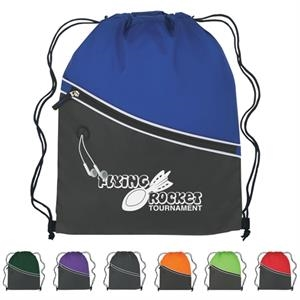 Custom Two-tone Sports Pack With Large Front Zippered Pocket