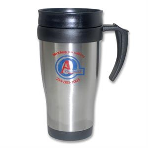 Navigator 16 Oz Double Wall Stainless Steel Outer And Plastic Inner Mug. Bpa Free